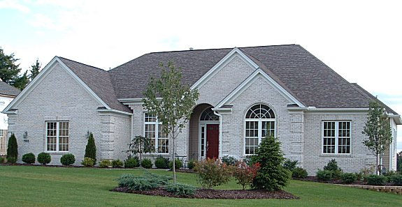 Cathedral den or 4th bedroom. Vaulted/cathedral foyer and great room. Formal dining with high tray ceiling. Vaulted kitchen and dinette with pantry. Large master bed and bath. Half round windows. Covered front porch. 3-car side entry garage. Optional brick and skylights.